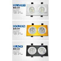 好恒照明科技有限公司专业生产LED格栅灯 双头射灯 双头筒灯 2*9w