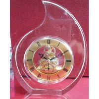 厂家直销水晶钟表 搭配TS85合金透视机芯 高端水晶钟表k9水晶玻璃