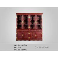 厂家直销-红木书柜-红酸枝家具-东方之韵2号书柜-红木家具APP-古典家具-东阳红木