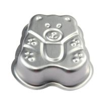 新品上市批发铝合金蛋糕模---大熊仔形平底
