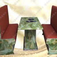 精品热卖 欧式火锅桌 优质石英石火锅桌 休闲餐厅多功能实用火锅桌