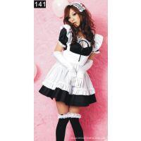 秋叶原咖啡厅服务员黑白女仆装cosplay服装轻音女佣cos服动漫服装