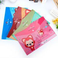 横款卡通文件袋 创意a4文件袋 pvc文件袋批发韩国塑料透明文件袋