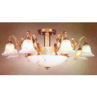 中元之光供应欧式家居别墅精美吊灯高档时尚奢华水晶吊法式全铜灯精致时尚云石灯