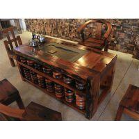泉州茶桌专卖店老船木客厅大茶艺桌仿古实木小茶几椅组合别墅茶台特价