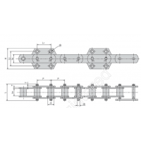 提供NSE高强度水泥链条盾牌链条东华集团