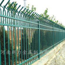 热销 锌钢铁艺小区围墙护栏 别墅庭院厂区锌钢隔离栏 钢材栅栏河南新力