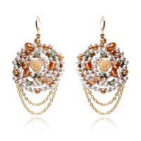 天奢珠宝敦煌网饰品货源批发一件代发水晶珠子珍珠耳钉2015152