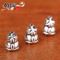 泰福银 925纯银泰银 手链DIY手工配件 葫芦吊坠水晶饰品 厂家直销