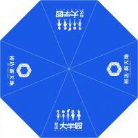 西安盼源专业供应天宝雨伞制作可定制广告的成人三折伞定制