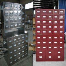 吉林中药调剂台抓药台价格 16抽带滑轮药柜不锈钢中药柜哪里便宜