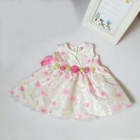 婴幼儿女童无袖碎花连衣裙批发 夏季全刺绣亮片公主裙