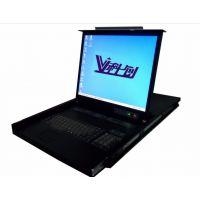 科创17寸折叠液晶显示器1U机架控制台操作台