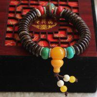 椰壳隔片手链配绿松石尼泊尔手工珠手串批发