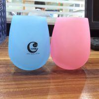 2015新款8种颜色硅胶红酒杯 深蓝色环保硅胶红酒杯