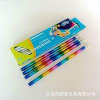 铅笔厂家定做 印花铅笔 不滑芯 环保HB铅笔 木塑铅笔文具定制批发