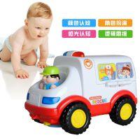 汇乐智能早教益智音乐电动儿童玩具车 全能救护车 男孩玩具3-6岁