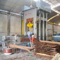 青岛国森机械制造利用废弃桑枝生产高档的桑枝重组木生产线