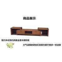 美希恩金丝檀木电视柜简约现代中式视听柜纯实木客厅储物柜