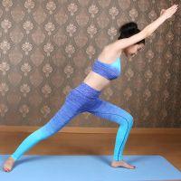 优哈瑜伽服运动套装女新款渐变色健身服瑜伽运动服速干紧身衣外贸运动现货批发高档锦氨面料可来样定做