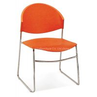 Popular fashion famous plastic stack orange metal training church public metal office school visitor reception meeting conference hall chair
