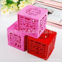 个性木质喜糖盒子 喜字中式礼盒/创意包装盒婚庆用品 工厂直销