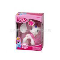 My Little Pony宝莉彩虹小马娃带梳子玩具卡通动漫公仔娃娃彩盒装