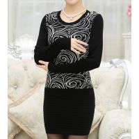 新款新品中老年毛衣女装中长款圆领中年女士打底衫