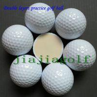 厂家直销全新JiaJia高尔夫双层两层练习球白球可印刷企业LOGO练习场用品