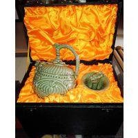 陕西耀州瓷茶具套装 西安青瓷倒流壶公道杯套装纪念品
