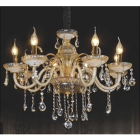 CVMA厂家直销 6038C-8A欧式LED水晶蜡烛吊灯锌合金客厅餐厅卧室书房灯具