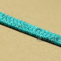 聚佳 天然湖北绿松石 2MM串珠 DIY散珠 厂家直销半成品批发