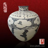 景德镇陶瓷粉彩花瓶 仿古落地陶瓷花瓶摆件