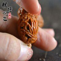 纯手工橄榄核手串梅兰竹菊镂雕透雕文玩精品橄榄核核雕 仿南工