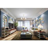 梵客家装|天津香缇花园|110平|地中海风格|装修效果图