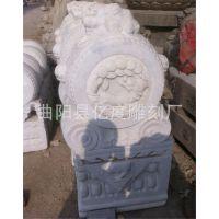 长期供应仿古石雕工艺品摆件汉白玉抱鼓石|大理石仿古做旧石门墩