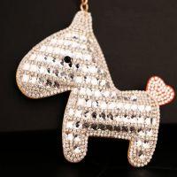 新品创意礼品小马汽车钥匙扣时尚韩国镶水钻水晶钥匙挂件包挂