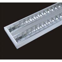 工程专用灯办公楼照明灯 办公照明 T5/T8 吸顶式吊杆式LED格栅灯明装格栅灯盘电子/电感镇流器