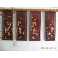 供应木雕挂件/仿古木雕工艺摆件(红木嵌黄杨人物雕刻)
