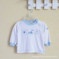 小布点外贸童装批发 美国大牌 纯棉婴幼儿长袖T恤/上衣 打底衫