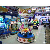 儿童三人旋转木马游戏机旋转木马厂家批发价格儿童大型电玩游戏机
