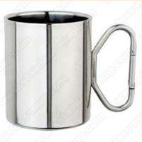 登山扣手柄咖啡杯 全不锈钢咖啡杯 双层不锈钢便携水杯 马克杯