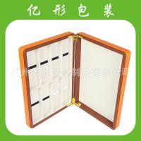 厂家供应加工定制皮盒 布盒 纸盒 PVC PU皮革眼镜展示盒 展示盘