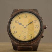 供应 新款酒吧装饰品树脂摆件 复古做旧欧式钟表 zakka义乌座钟