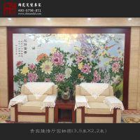 高档名人画瓷画板,精美陶瓷装饰品,大厅摆设瓷板画