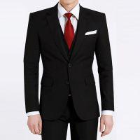 2015新款 黑色男西装套装 职业装专业定做MZY-510