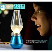 厂家直销吹控USB煤油灯 充电式创意复古LED台灯可调光怀旧小夜灯