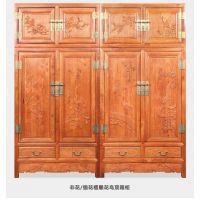 唐雕顶箱柜 刺猬紫檀木缅花缅甸花梨/大果紫檀中式古典红木家具