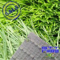 有茎单丝人造草坪 双面带筋人造草坪