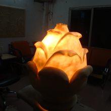玛雅石透光灯砂岩花朵花苞花蕾造型灯罩仿砂岩酒店会所别墅艺术灯罩